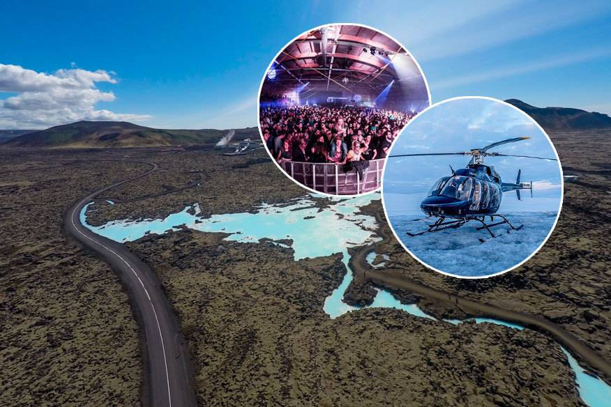 Die spektakuläre Landschaft Islands aus dem Helikopter genießen und als Mega-VIP-Gast am Secret Solstice Festival teilnehmen – dafür muss man nur eine Million Dollar locker machen
