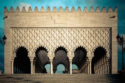 Das Mausoleum von Mohammed V. in Rabat