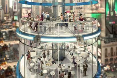 Ganz oben stellen die Planer sich ein Restaurant und eine Sky-Bar vor