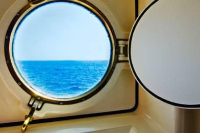 Das Bullauge - ein Kabinenfenster am Schiff