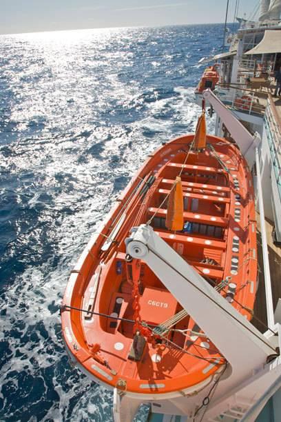 Der Zodiak, das schnelle Beiboot eines Kreuzfahrtschiffes