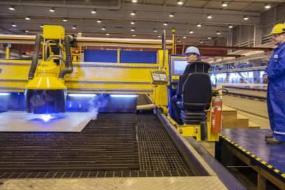 Erster Stahlschnitt: Im November 2014 begannen die Bauarbeiten für die Mein Schiff 5