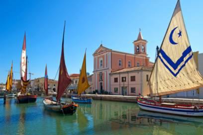 In Cesenatico kann man historische Schiffe bewundern