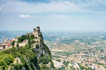 San Marino wird von der Torre Guaita überragt