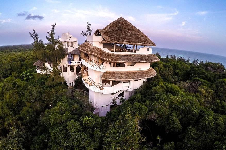 Vom Watamu Treehouse In Kenia Haben Gäste Einen Unglaublichen Blick über  Die Wälder, Den Strand