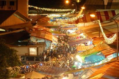 Basar in Singapur während des Ramadan
