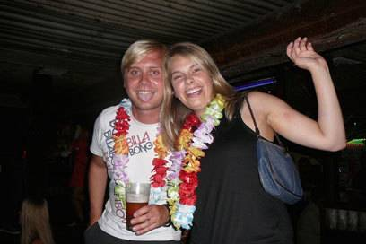 Jana und Christian in Cairns, Australien. Hier lernten sie sich kennen.