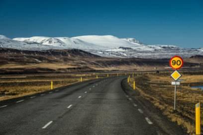 90 km/h – so viel darf maximal auf Islands Straßen gefahren werden