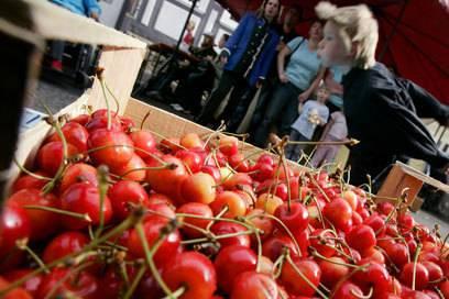 In Witzenhausen findet jährlich ein Kirschenfest statt