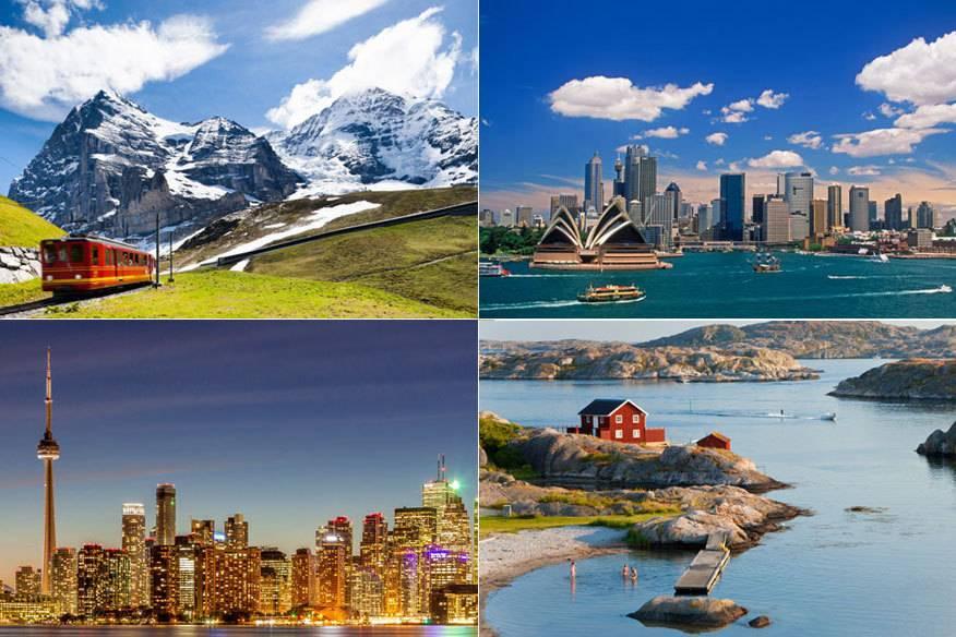 """Die """"RepTrak-Studie"""" des renommierten """"Reputation Institute"""" hat Schweden, Kanada, die Schweiz und Australien zu den Ländern mit dem weltweit besten Ruf erklärt"""