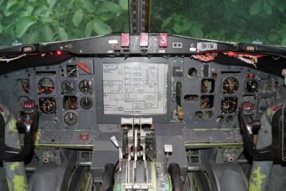 Das frühere Flugzeugcockpit. Hier zieht sich Campbell zum Lesen zurück