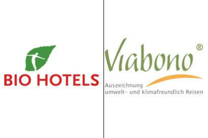 das Label Bio Hotels bewertet allein die ökologischen Aspekte und ist hier auch sehr anspruchsvoll. Viabono ist ein Öko-Label, das auf eine Initiative unter anderem des Bundesumweltministeriums zurückgeht.
