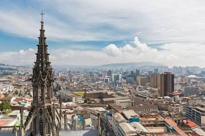 Blick über Ecuadors Hauptstadt Quito