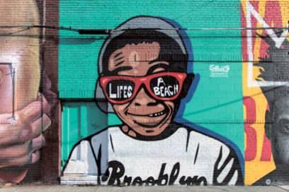 Bushwick ist bekannt für seine vielen bunten Straßenkunstwerke