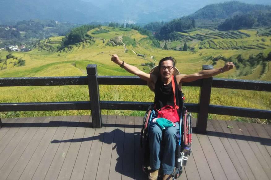 Alleine im Rollstuhl durch China: Seit zwei Jahren ist Quan Peng auf dem Weg von Peking nach Sanya – eine Strecke von mehr als 5600 Kilometern