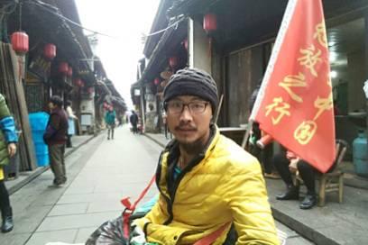 Dieser Mann gibt nicht auf: Noch fehlen Quan Peng gut 1000 Kilometer bis zum Ziel