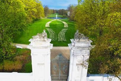 Hat unsere zu Beginn skeptische Autorin überzeugt: Der Schlosspark Oranienburg von oben