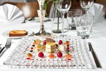 Ein Dessert-Teller im Restaurant Medici