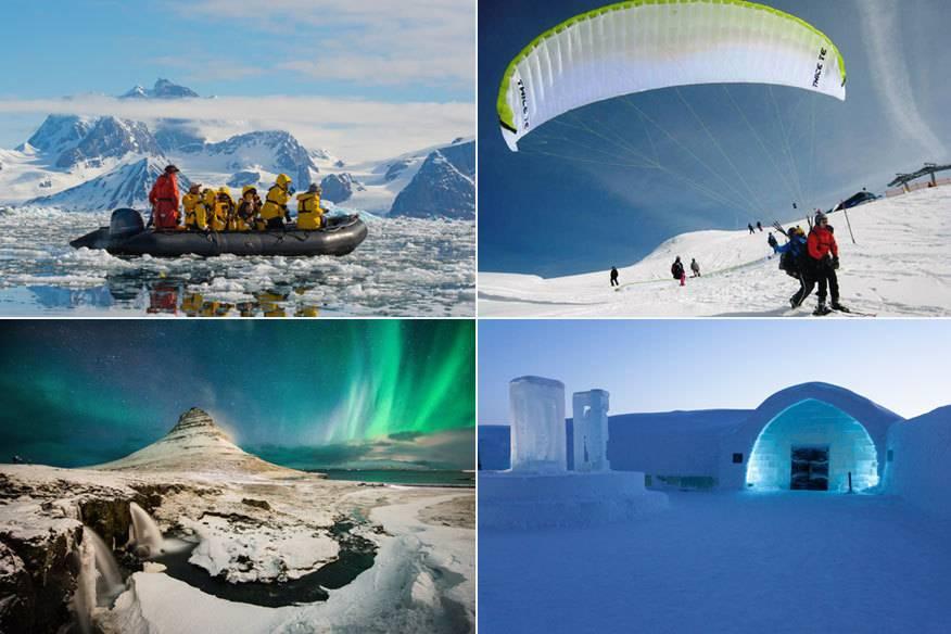 Statt mit Skifahren kann man im Winter die Tage in Eis und Schnee auch mal anders verbringen. Wir zeigen neun Alternativen.