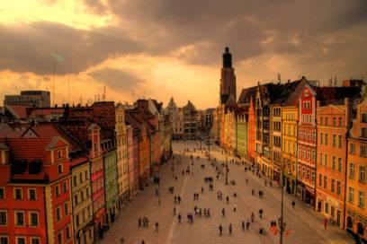 Die Altstadt von Wroclaw gilt als eine der schönsten in Polen
