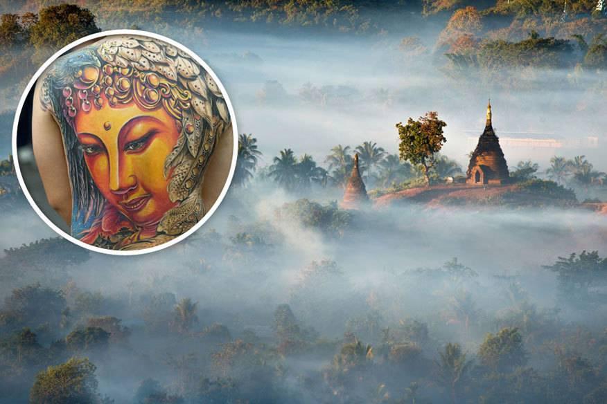 Buddha-Tattoos sollte man in südostasiatischen Ländern besser nicht öffentlich zeigen (Symbolbild)