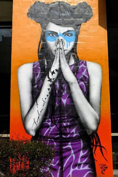 Schöneberg bietet wesentlich mehr Graffiti, als man denkt. Auch von rennomierten Künstlern wie Fin DAC