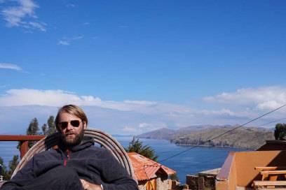 Torsten Johannknecht am Titicacasee