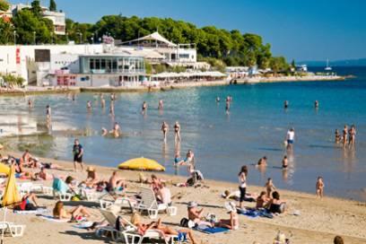 Der Strand Bacvice in Split