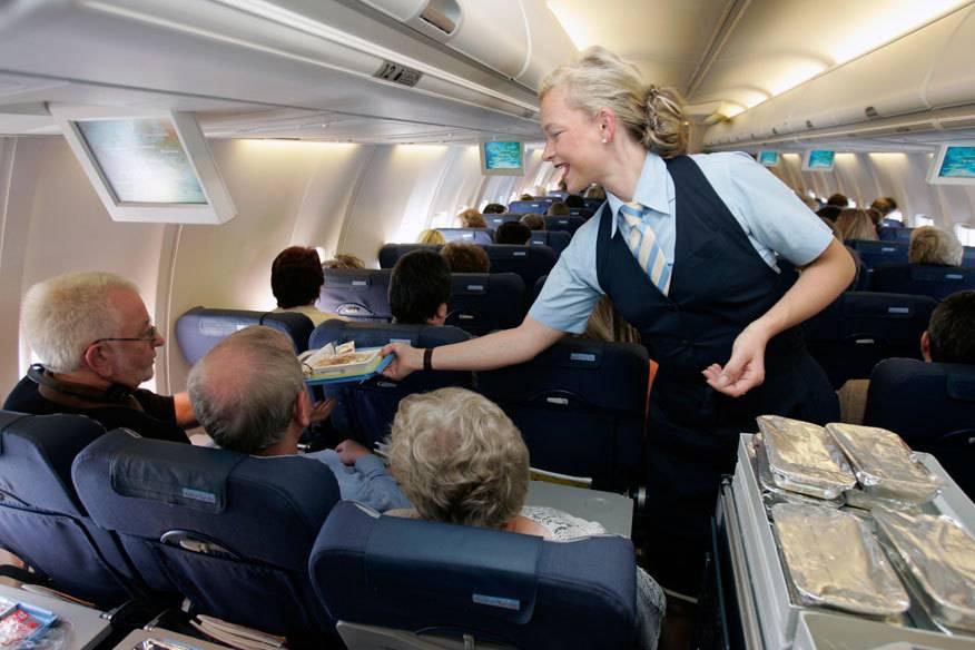 stewardess, flugbegleiterin, essen, mahlzeit, flieger