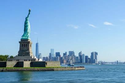 Die Freiheitsstatue in New York sollte am besten nicht auf einer Weltreiseroute liegen