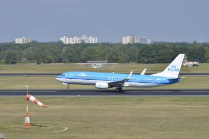 Überdurchschnittlich viele Flüge der niederländischen Airline KLM kamen pünktlich an
