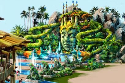 """Dieser Entwurf zeigt den Themenbereich """"The Garden of the Nature Spirit"""""""