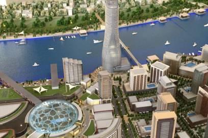 """So könnte die Zukunft Belgrads aussehen: Modell für """"Belgrad am Wasser"""""""