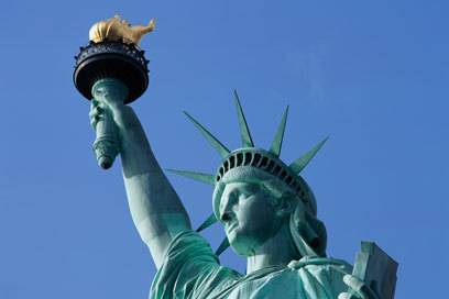 """Lady Libertys"" Fackel war eigentlich als Leuchtturm gedacht"