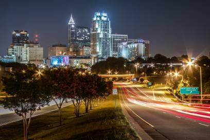 Wunderschöne Aufnahme vom Zentrum von Raleigh