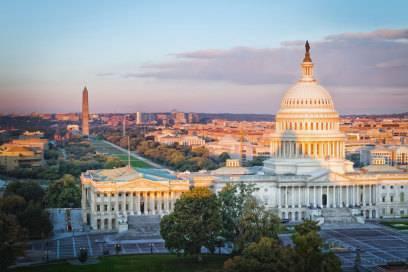 Washington ist seit 1800 die Hauptstadt der Vereinigten Staaten von Amerika