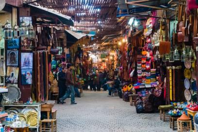 Charakteristisch für Marokko: Die bunten Märkte