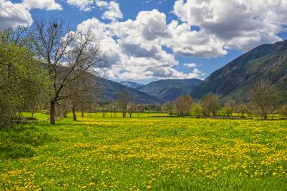 Spanien bietet viel schöne Natur, so wie hier in Huesca in den Pyrenäen