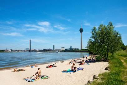 Fast wie am Meer: der Paradiesstrand in Düsseldorf
