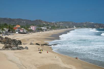 Der Zipolite-Strand liegt im mexikanischen Bundesstaat Oaxaca in der Näge von Puerto Escondido