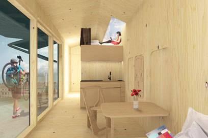 So soll der Innenraum der kleinen Kabinen aussehen