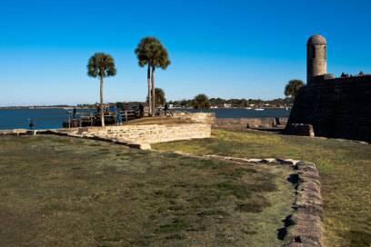 Das Castillo de San Marcos Momument in Saint Augustine