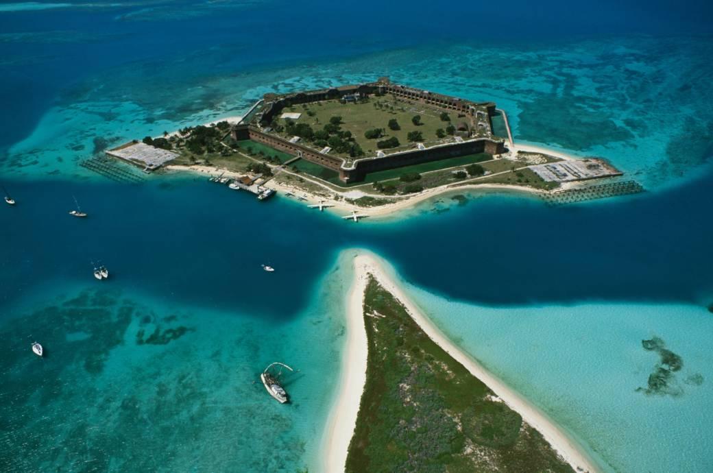 Das Fort Jefferson zählt zu den Highlights der Inseln Dry Tortugas
