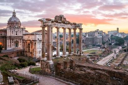 Das Forum Romanum lässt noch heute erahnen, wie spektakulär das Rom der Antike war