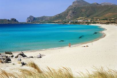 Kreta hat neben viel Kultur und Ausgrabungsstätten auch wunderschöne Strände zu bieten, wie hier der Falasama Beach