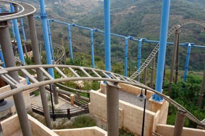 An den Berghang gebaut bot sich vom Twister im Habtoorland eine spektakuläre Aussicht