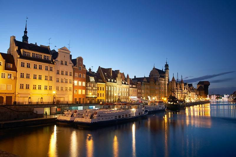 Blick auf die Altstadt von Danzig. Im Mittelalter galt die ehemalige Hansestadt als reichste Stadt der Welt
