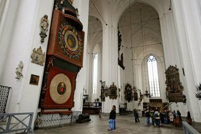 Die Astronomische Uhr in der Danziger Marienkirche wurde zwischen 1464 und 1470 gebaut