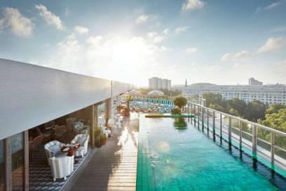 Der Pool im Berliner Hotel Soho House kann sich sehen lassen