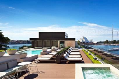 Spektakuläre Aussichten hat man auch vom Hotel Park Hyatt in Sydney